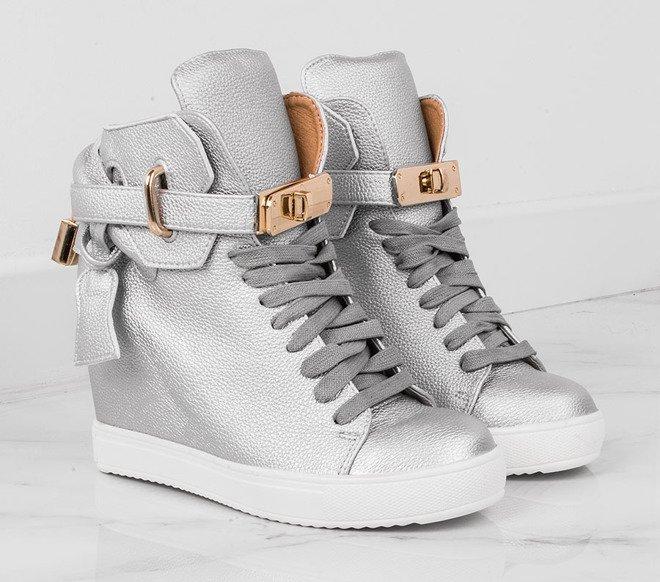 2fe5090b85a32 Sneakersy Damskie - Na koturnie, z kłódką - Modne i Tanie | Kolekcja 2019  STILI