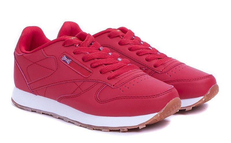 czerwone adidasy