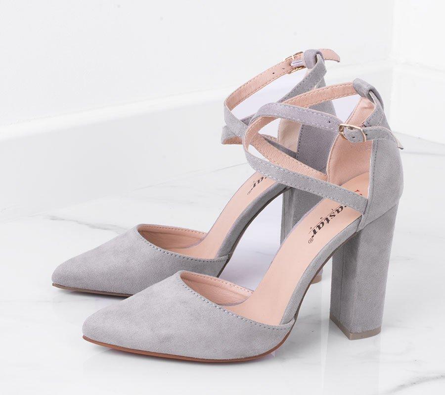 buty damskie szare zamszowe