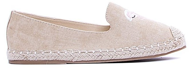 BEŻOWE ESPADRYLE BALERINKI FLAMING 2