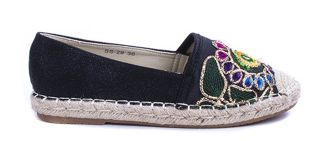 CZARNE BALERINKI ESPADRYLE HOLIDAY 2