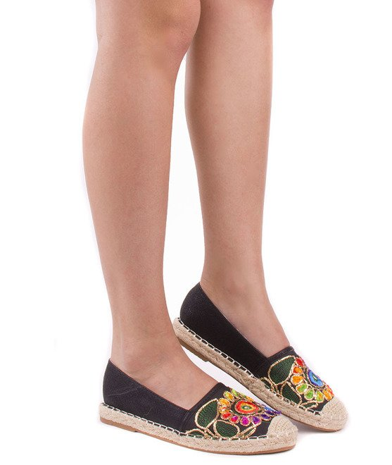 CZARNE BALERINKI ESPADRYLE HOLIDAY 4