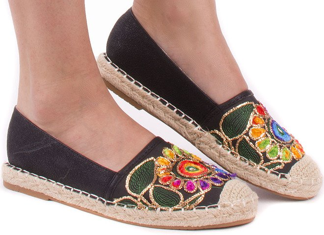 CZARNE BALERINKI ESPADRYLE HOLIDAY 1