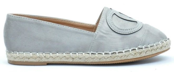 SZARE ESPADRYLE  CHANELKI PARIS